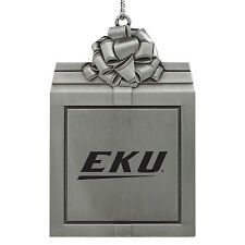 Eastern Kentucky University -Pewter Christmas Holiday Ornament-Silver