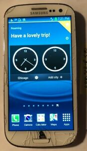 Samsung Galaxy S3 SCH-R530 Smartphone Fast Ship Good Used (US CELLULAR) Cracked