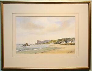 Irish Art Original Painting BALLYCASTLE BEACH & FAIRHEAD IRELAND by DAVID PETERS
