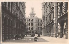 RPPC Chater Rd Hong Kong China Street View Old Cars Early Photo1920's G6