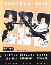Bucyrus Erie 20-B Shovel, Dragline, Crane, Catalog - prob 1950s - reprint