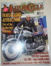 MotorCycle Magazine Fairground Attraction 1960 Matchless G3 July 2000 012215R