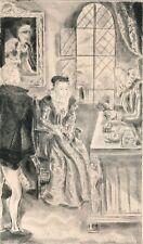 gravure originale Hermine David princesse de Clèves 1943 version anglaise