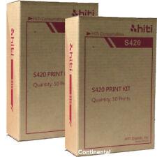 2 confezioni Hiti Carta e Ribbon per S420 STAMPANTE, totale per 100 stampe 4x6