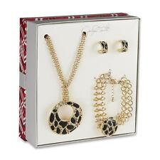Jaclyn Smith Women's Goldtone (Necklace Hoop Earrings & Bracelet) NIB