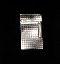 ST Dupont Montparnasse Lighter Diamond Point Design - Palladium Plated - Boxed