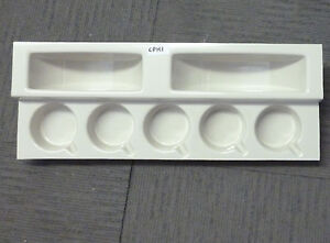 Caravan or motorhome kitchen ivory plastic cup and plate holder CPH1
