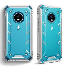 Full Coverage Shockproof Cover Case For Motorola Moto G5 Plus (2017) Blue