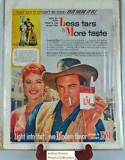 James Arness Gunsmoke Marshal Dillon VTN 1958 L & M Cigarette Ad