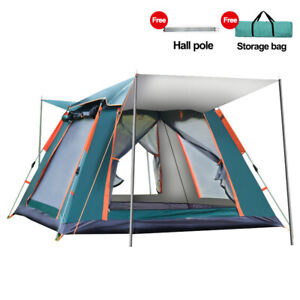 4 Person Family Full Automatic Picnic Camping Travel Hiking Tent Outdoor