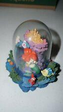 New ListingDisney Little Mermaid Glass Dome Figurine Statue Ariel Ursula Flounder Eric