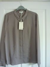 LINEA TRUFFLE JACQUARD LONG SLEEVE SHIRT BLOUSE UK 16, EUR 42, US 12  BNWT