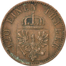 [#86795] GERMAN STATES, 3 Pfennig, 1868, Wroc?aw, KM #482, VF(30-35), Copper