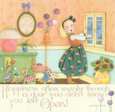 Happiness Sneaks Through-Handcrafted Fridge Magnet-Using art by Mary Engelbreit