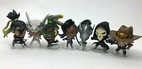 Lot of 7 BLIZZARD Overwatch Cute but Deadly Series 3 Figures / Reaper Hanzo