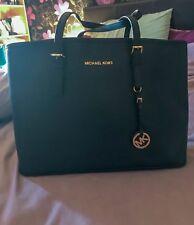 Michael Kors Large Black Jet Set Saffiano Leather Tote Bag