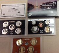 2013 US MINT SILVER PROOF SET - Complete w/ Original Box and COA