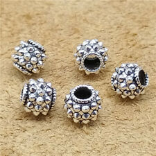6 Sterling Silver Spike Beads 925 Silver Bracelet Spacer Beads