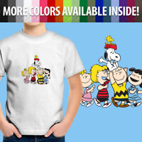 Peanuts Friends Charlie Brown Snoopy Woodstock Fun Toddler Kid Tee Youth T-Shirt