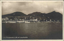 Schiffe Rhein 1933 Dampfer Schiff VATERLAND bei Königswinter mit Drachenfels