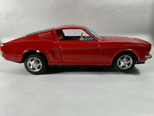 Vintage Red Mustang Toy Taiyo Bump N Go Tin Car Light Up FORD Motor Company