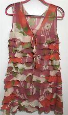 MARC JACOBS Pink Ruffle Silk Sleeveless Dress Size 6 NWT $398