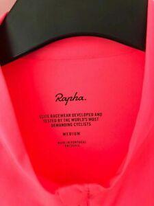 Rapha pro team training hi viz pink long sleeve cycling jersey A++++ Shape! med