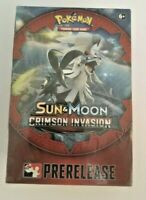 Pokemon TCG Sun and Moon CRIMSON INVASION Prerelease Box Kit - Factory Sealed