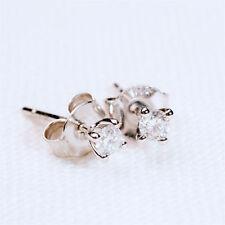 Butterfly Fastening Stud Very Good Cut Fine Diamond Earrings