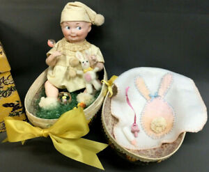 EASTER BABY Googly Rare Character GB Armand Marseille Doll 252 6/0 DRMR Antique