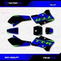 Blue & Green Shift Racing Graphics Kit fits 00-08 YAMAHA TTR90 TTR 90 decal