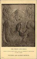 Skulptur Büste Kunst AK um 1910 Virgin & Child Jungfrau Motivkarte Postcard