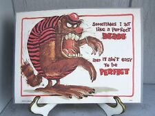 POSTER COASTER SNACK PLACEMAT SIGN, BEAST CUTE SAYING, REVERSIBLE AND WIPEABLE!!