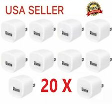 20x 1A USB Power Adapter AC Home Wall Charger US Plug FOR iPhone LG Samsung