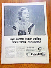 1953 Chlorodent Tooth Paste Ad Another Woman Waiting for Every Man