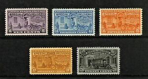 #E15 to #E19 Special Delivery Stamps MNH Great Centering!!