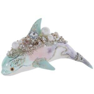 Rhinestone, Pearl & Glitter Glass Nautical Sea Ornaments and Mermaid Collection