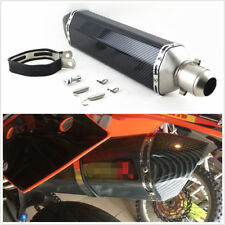 Universal Carbon Fiber 38-51mm Motorcycles Exhaust Muffler Pipe DB Killer 570mm