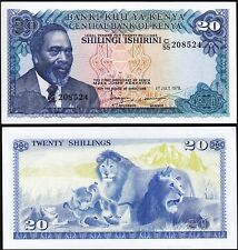 Kenya 20 Shillings,1 July 1978, AU / UNC, P-17