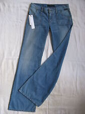 Calvin Klein da donna blue jeans w27/l34 regular fit low waist Flare Leg Zip Fly