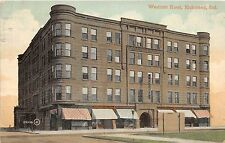 A59/ Richmond Indiana In Postcard 1910 Westcott Hotel Building