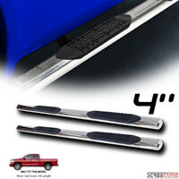 """4"""" Oval Chrome Stainless Side Step Bars Running Boards 02-09 Dodge Ram Quad/Crew"""