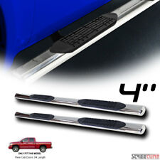 "4"" Oval Chrome Stainless Side Step Bars Running Boards 02-09 Dodge Ram Quad/Crew"