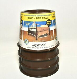 Slipstick CB652 3 Inch Under Bed Storage Bed Risers / Furniture Risers, Adds 3""