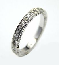 18 KT WHITE GOLD DIAMOND ETERNITY BAND WITH 0.45 CT DIAMONDS 1.50 MM WIDE