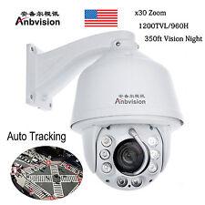 Anbvision Auto Tracking 960H 30x Zoom 1200TVL PTZ High Speed CCTV DOME Camera US