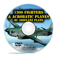 1300 Fighters and Aerobatics, Remote Control RC Model Aircraft Plans, DVD I23