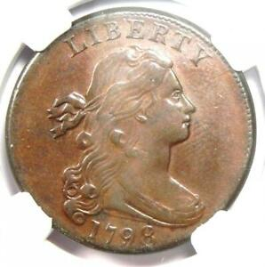 1798 Draped Bust Large Cent 1C - Certified NGC AU Details - Rare Coin in AU!
