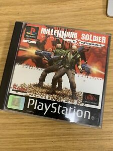 MILLENNIUM SOLDIER EXPENDABLE SONY PLAYSTATION 1 PS1 PS2 PS3 GAME WITH MANUAL UK