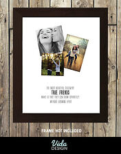 best friend quote, Birthday gift, Personalised photo print A4 BEST FRIENDS